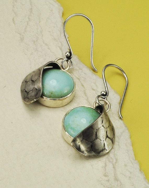 Turquoise Earrings, December Birthstone Earrings, Blue Earrings, Sterling Silver Earrings, Silver and Turquoise Earrings, Handmade Earrings