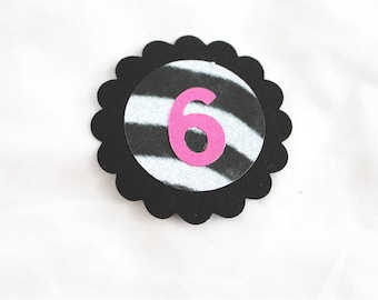 10 tags featuring your child's age - can be Cupcake Topper or Die Cuts