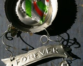 True love CAN last forever.. Personalized Recycled Metal Sculpture