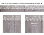KIMBERLYS CUSTOM BANNER--- Comes with avatar and reserved listing sign. Gray fence and white lace.  Made by lippy brand.