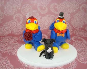 Customized Jayhawks Mascot Wedding Cake Topper