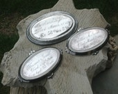 Victorian casket plate set of three related women, possibly mother and daughters