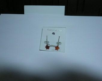 Earring Garnet Clip on Earring