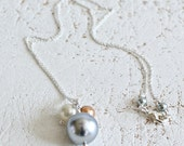 Pearl Cluster Pendant-Whi...