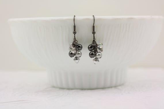 Bridesmaid Gift-Grey Pearl Earrings-Wedding Earrings-Bridesmaid Earrings-Gray Pearl Earrings-Bridesmaid Jewelry-Dream Day Designs