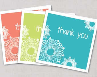 Lace Thank You Cards,Handmade Thank You Cards, Thank You Stationary