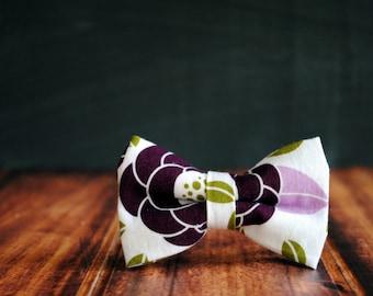 Men's Self-Tie Freestyle Pre-Tied Bow Tie - Purple Floral