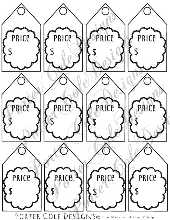 Stupendous image inside garage sale price tags free printable