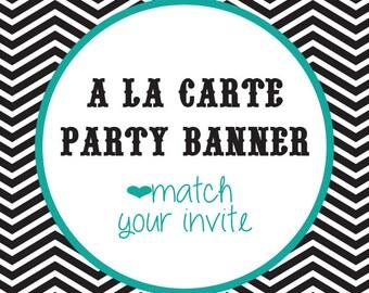Party Banner A La Carte