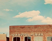 Capitol Bar Building Photo - decorative photography print - wall art - home decor - New Mexico architecture photo - multiple sizes availabl