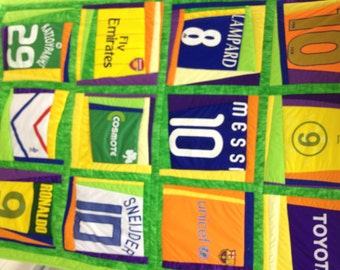 Football quilt. Free shipping. Quilted throw blanket. Basketball quilt. Baseball Quilt.