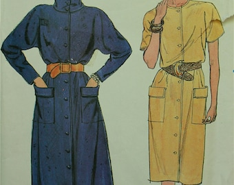 Dress -Kimono Sleeves & Cowl - Butterick Pattern 6744 Uncut  Sizes 12-14-16  Bust 34-36-38""