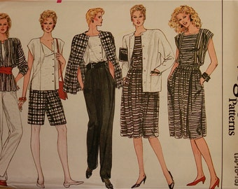 Jacket, Skirt, Pants, Shorts & Top - 1980's - Vogue Pattern 8617  Uncut   Size 14-16-18  Bust 36-38-40""