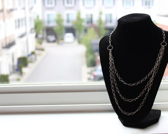 Multiple Chain Silver Necklace