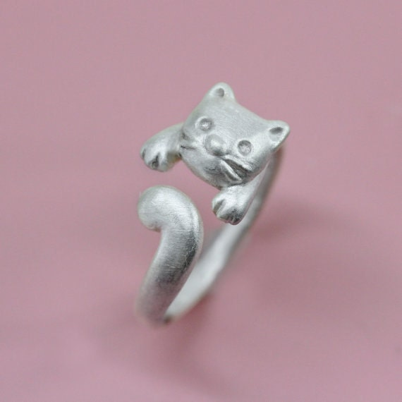 sale cat ring in sterling silver ring in sterling