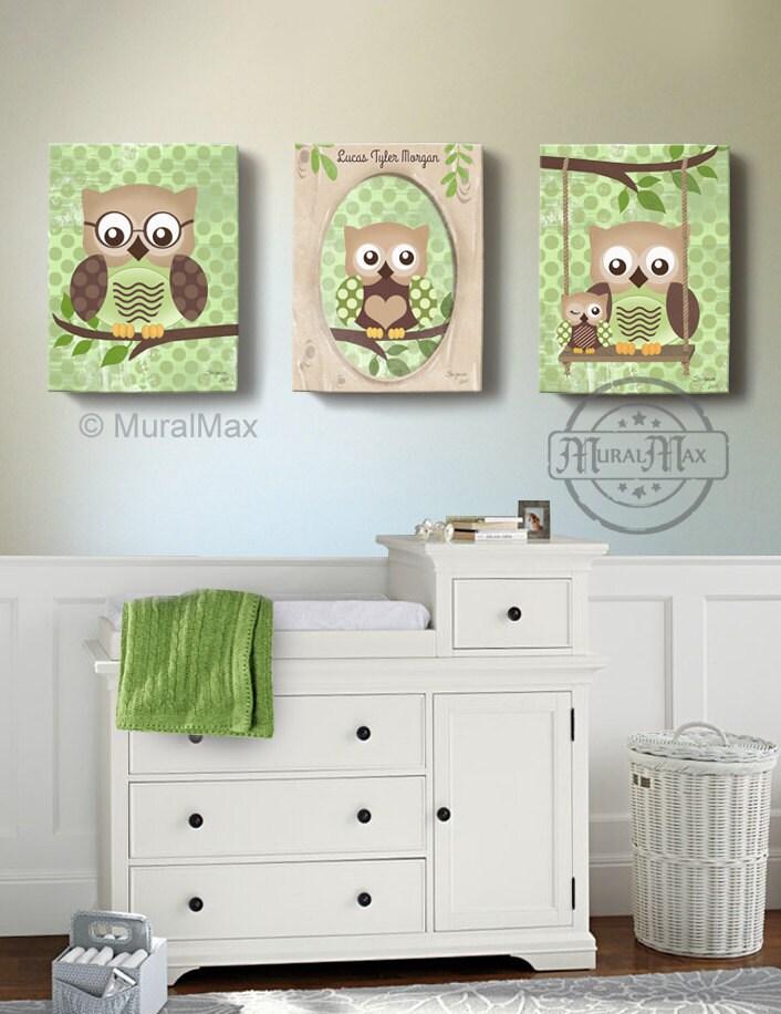 owl kids art owl decor art for children owls nursery art