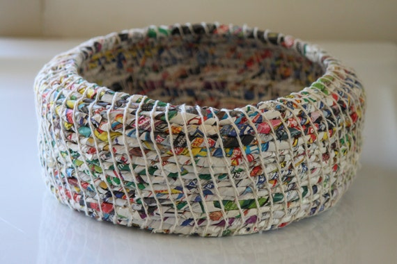 Items similar to upcycled waste paper basket junk mail for Best out of waste items