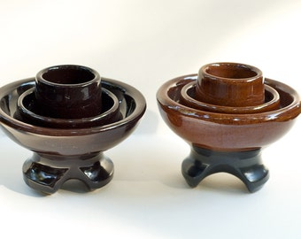 Items Similar To Vintage Brown Ceramic Insulators Set Of 2