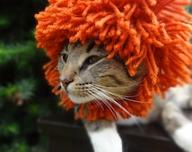 Lion Cat Hat, Lion Cat Costume, Lion Hat for Cats, The Lion Costume for Cats and Small Dogs,  Lion Mane for Dogs, Lions Mane Dog Hat