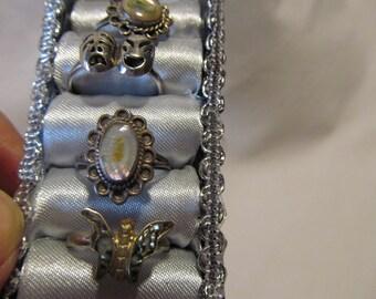 Hippy Days oval Abologne Sterling Silver Ring Size 6.5