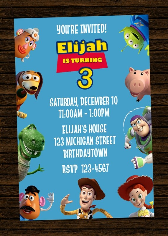 Custom Toy Story Inspired Birthday Party Invitations - DIY Printable ...
