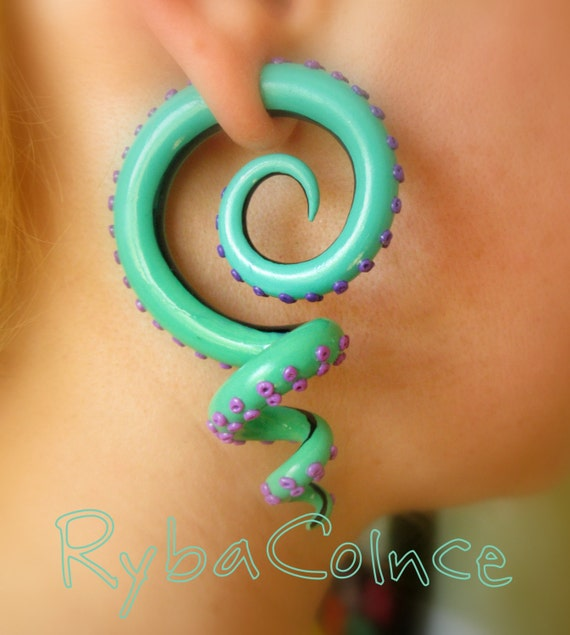 Fake Ear Tentacle Gauge Faux Gauge Gauge Earrings Tentacle