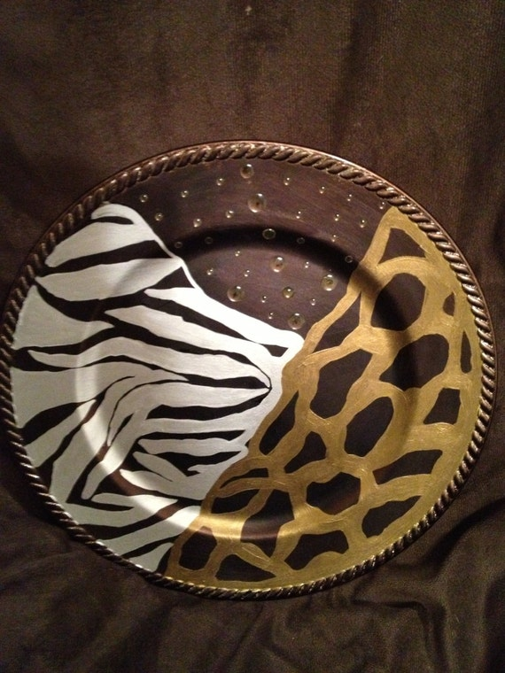Animal Print Decorative Tray Tribal Home By