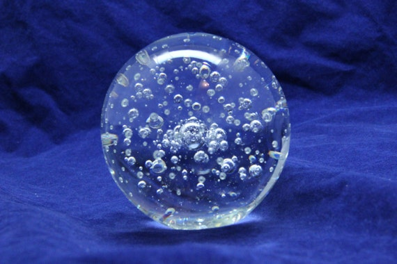 Giant solid quot glass crystal gazing ball for fairy