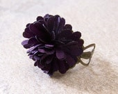 Purple Flower Ring Adjustable Ring 536