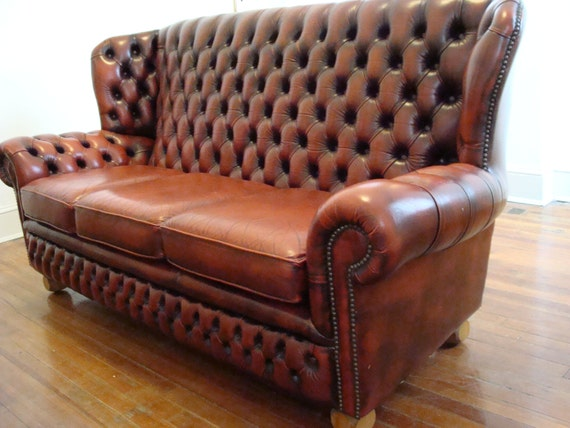 Reserved For Cari Gorgeous Vintage English Monks Chesterfield
