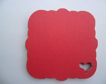 3 Inch Scalloped Heart Tags In Your Choice Of Colors      Great For Gift Tags,Wedding,Anniversary,Birthday,Place Tags
