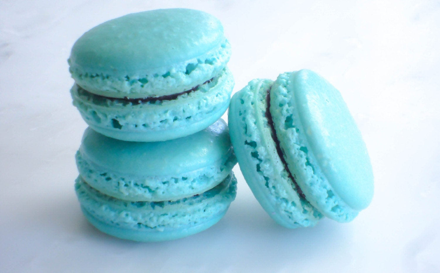 French Macaron Cookies 12 Blueberry Lavender Macaroons Gift