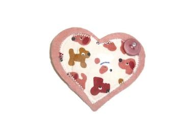 Dog lovers Heart Brooch.  Womens Jacket Pin. HALF PRICE SALE.