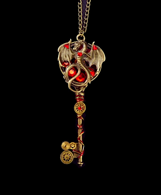 steunk necklace of thrones necklace key necklace