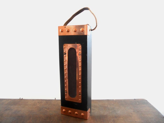 RESERVED Vintage Swedish black metal brass match box holder Fireplace Accessory Farmhouse kitchen decor Copper home decor