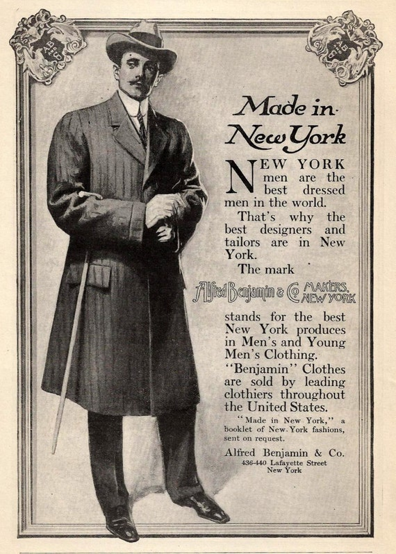 1900s mens fashion illustration new york best dressed
