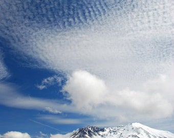 """13""""by19"""" Fine Art Print of Mount St Helens with Clouds - Washington State, USA"""