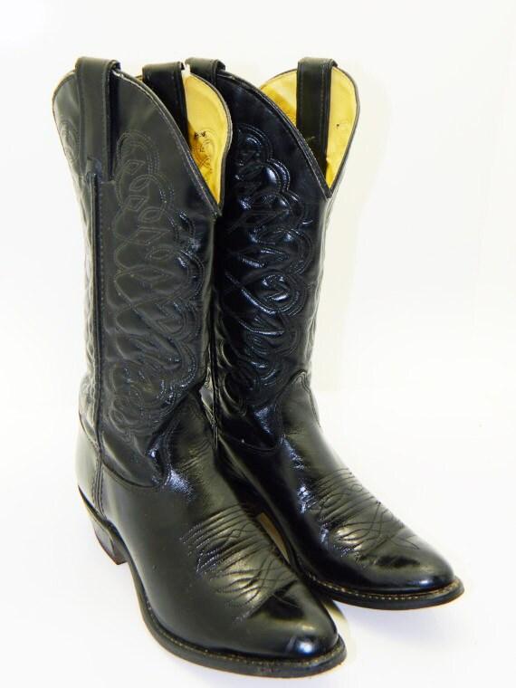 womens black size 6 1 2 wrangler cowboy boots by rubesrelics