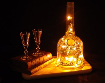 Goldschläger Cinnamon Schnapps Liqueur  Light Up Liquor Bottle - Lighted Decorated Bottle / Lamp / Bar / Party / Night Light