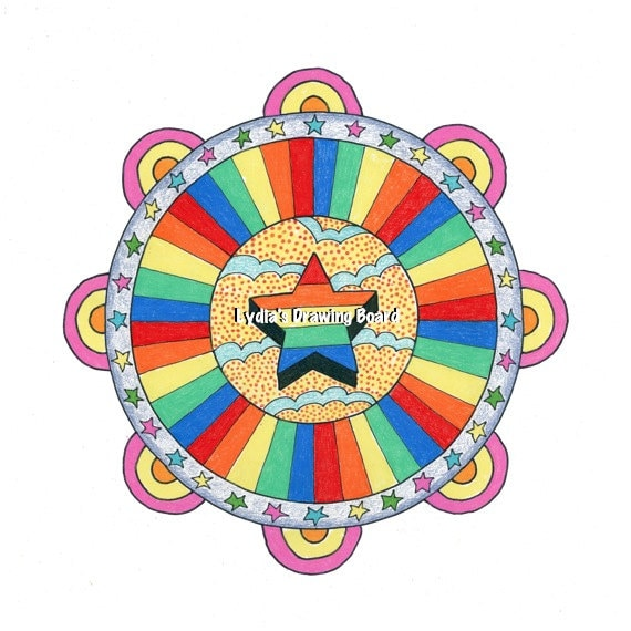 Mandala, Mandala Art, Mandala Wall Art, Beatles, The Beatles, Pop Art, Pop Art Print, Psychedelic Art, Trippy Art, Hippie Art, Hippie Decor
