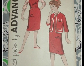 Vintage 1960s Advance 9343 Girls Jumper Blouse and Jacket Sewing Pattern Size 8 UNCUT