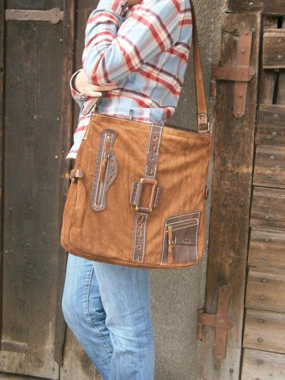 15 inch Ethno Leather Laptop Shoulder Bag,Etno Handmade Bag, Genuine leather Messenger Bag, Office bag, Laptop Leather bag, Gift for her