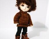 Pukifee Lati Yellow Brown Sweater
