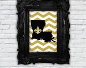SHIPS FREE - LA Love: Black and Gold 5x7 Print