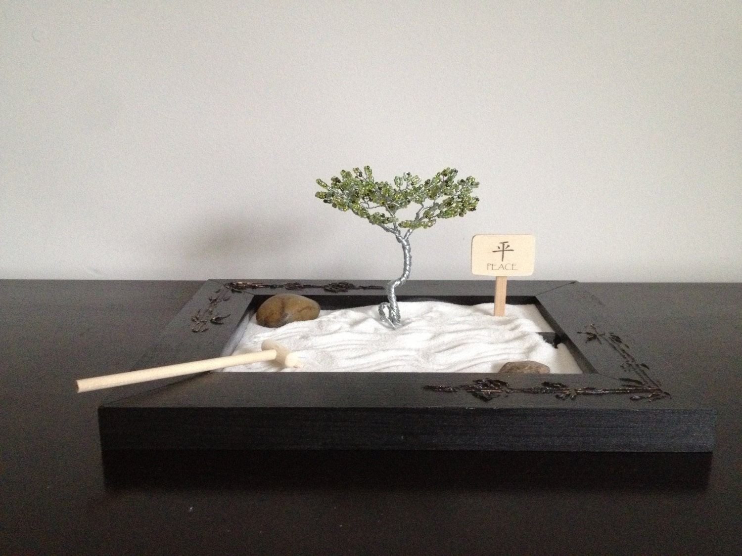 zen garden kit plus zen garden tree. Black Bedroom Furniture Sets. Home Design Ideas