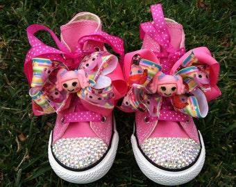 LALALOOPSY SHOES - Lalaloopsy bow - Lalaloopsy party - Lalaloopsy birthday - hair bows - toddler and youth shoes