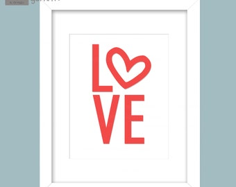 Valentine Love Wall Art 8x10 Printable Image