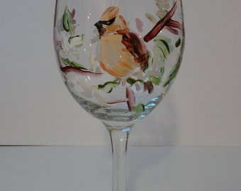 Cedar Waxwing Wine Glasses