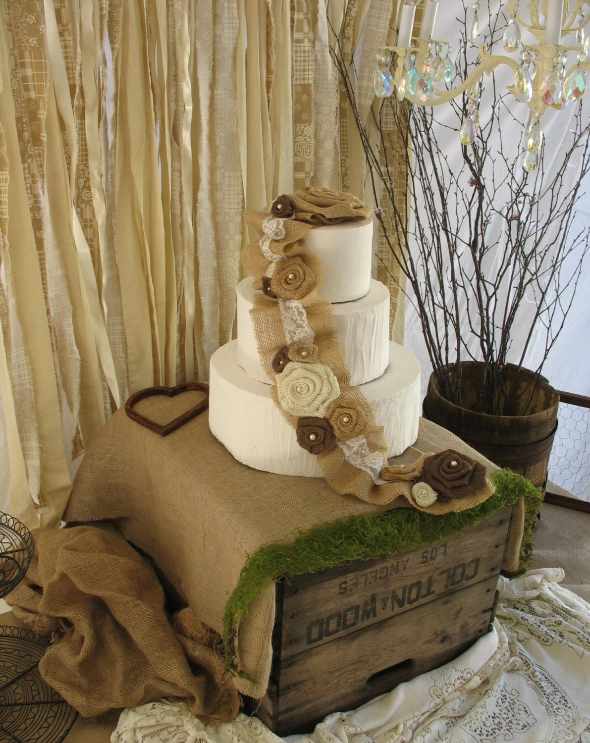 burlap and lace wedding cake toppers burlap cake topper rustic wedding cake decoration burlap 12254