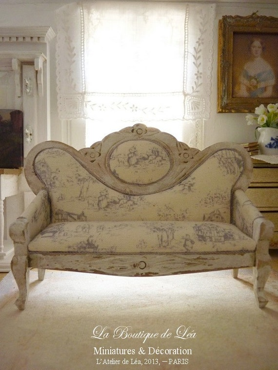 Sofa Napol On Iii Blue French Toile Toile De Jouy